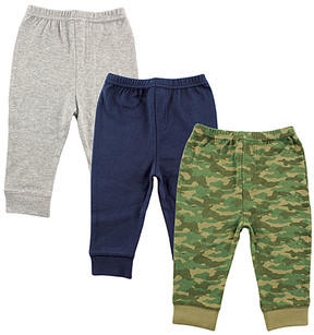 Luvable Friends Gray, Blue & Green Camo Pants Set - Infant