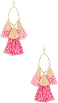 Ettika Tri Tassel Earrings