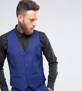 Farah Smart Skinny Vest In Blue