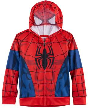 Marvel Boys 4-7 Spider-Man Mesh Face Zip Hoodie
