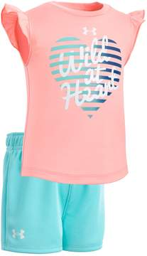 Under Armour Baby Girl Wild At Heart Graphic Tee & Shorts Set