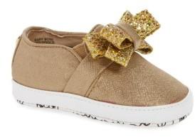 MICHAEL Michael Kors Infant Girl's Baby Bowi Metallic Slip-On Crib Shoe