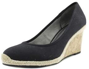 LifeStride Life Stride Listed Open Toe Leather Wedge Heel.