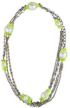 Erickson Beamon Pearl Station Necklace