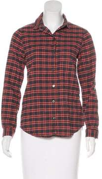 6397 Plaid Button-Up Top