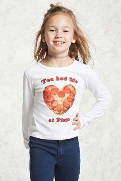Forever 21 Girls Pizza Graphic Tee (Kids)