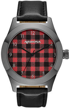 Arizona Mens Black Strap Watch-Fmdarz522