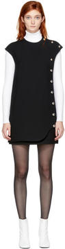 Courreges Black Buttoned Short Dress