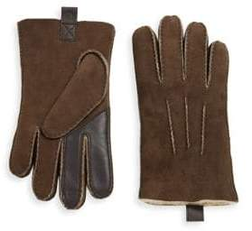 UGG Contrast Shearling Gloves