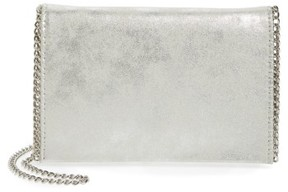 Chelsea28 Faux Leather Clutch - Metallic