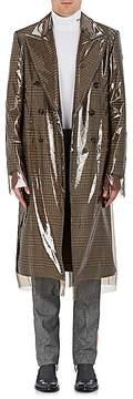 Calvin Klein Men's Checked Virgin Wool Coat & Removable Cover