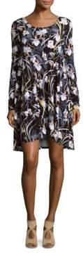Context Floral Roundneck Shift Dress