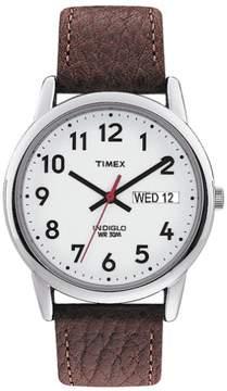 Timex Mens Easy Reader T20041 Brown Strap Watch