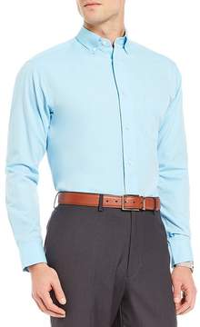 Daniel Cremieux Signature Solid Pinpoint Oxford Long-Sleeve Woven Shirt