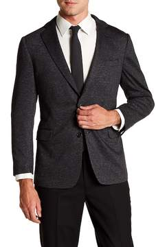 Brooks Brothers Notch Collar Front Button Knit Print Regent Fit Jacket