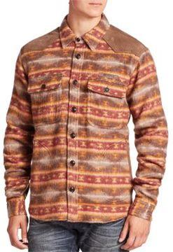 PRPS Wool Blend Printed Shirt