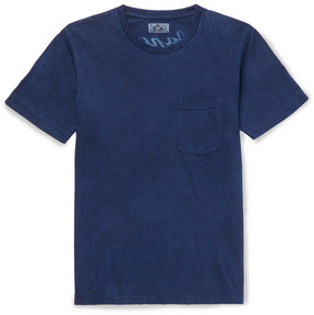 Blue Blue Japan Slim-Fit Printed Indigo-Dyed Cotton-Jersey T-Shirt