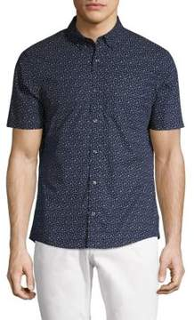 Michael Kors Otis Print Slim Fit Button-Down Shirt