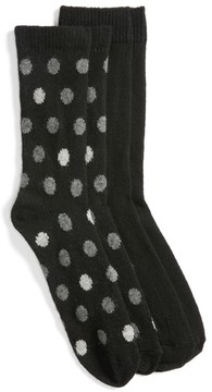 Nordstrom Women's 2-Pack Crew Socks