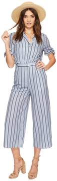 J.o.a. Wide Leg Jumpsuit with Sleeve Ties Women's Jumpsuit & Rompers One Piece