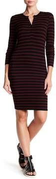 ATM Anthony Thomas Melillo Stripe Henley Dress