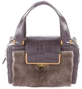Jimmy Choo Crocodile and Mink Cassidy Bag