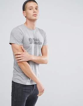 Fjallraven Logo T-Shirt in Gray