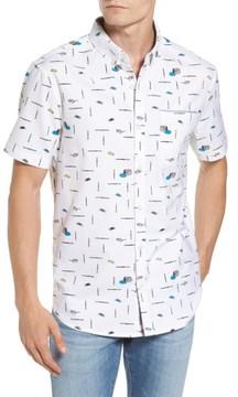 Original Penguin Men's Paintbrush Pattern Woven Shirt