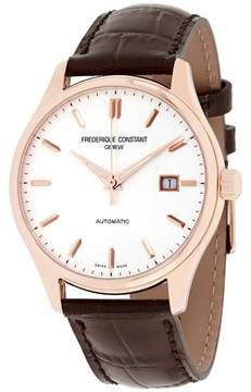 Frederique Constant Classics FC303V5B4 Rose Gold Plated Stainless Steel Silver Dial 40mm Mens Watch