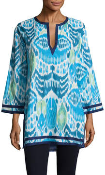 Oscar de la Renta Women's Ikat Cotton Tunic