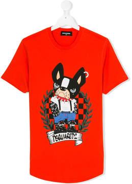 DSQUARED2 Teen bulldog T-shirt