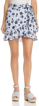 Aqua Floral Striped Wrap Skirt - 100% Exclusive