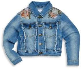 Joe's Jeans Girl's Oversized Denim Cropped Jacket