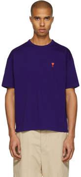 Ami Alexandre Mattiussi SSENSE Exclusive Purple Boxy Ami de Coeur T-Shirt