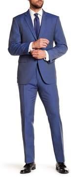 Perry Ellis Solid Blue Notch Lapel Suit