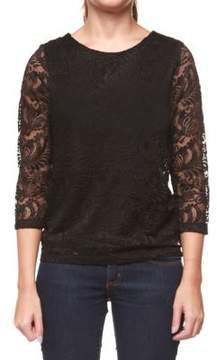Dex Girl's Long Sleeve Lace Top