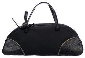Christian Dior Leather-Trimmed Handle Bag