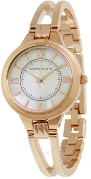 Anne Klein Mother of Pearl Dial Rose Gold Bangle Ladies Watch