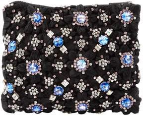 Christopher Kane Black Cloth Clutch Bag