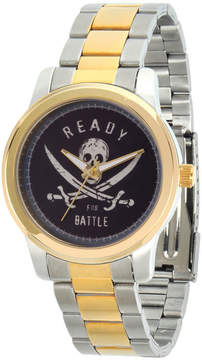 Disney Pirates of the Carribean Mens Two Tone Bracelet Watch-Wds000375