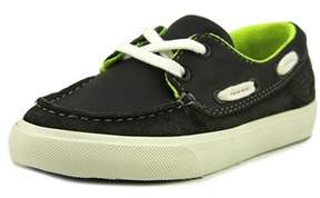 Clarks Club Ocean Toddler W Moc Toe Leather Gray Boat Shoe.