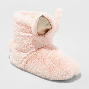 Stevies Girls' #BUUUNNY Bootie Slippers - Pink