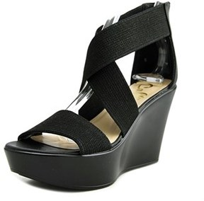 Callisto Hottie Open Toe Synthetic Wedge Sandal.