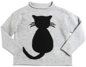 Il Gufo Cat Merino Wool Sweater
