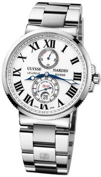 Ulysse Nardin Maxi Marine Chronometer White Dial Stainless Steel Automatic Men's Watch 263-67-7M-40