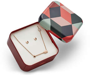 Fossil Chevron Studs and Arrow Necklace Gift Set