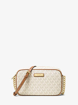 Michael Kors Jet Set Medium Logo Crossbody - NATURAL - STYLE