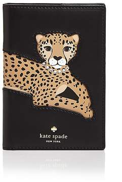 Kate Spade Run Wild Leopard Appliqué Leather Passport Case - MULTI/GOLD - STYLE