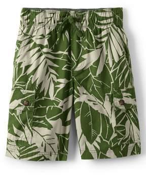 Lands' End Lands'end Little Boys Printed Flex Waist Pull On Cargo Shorts