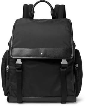 Montblanc Sartorial Jet Cross-Grain Leather-Trimmed Nylon Backpack